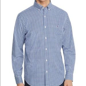 Blue Gingham Classic Tucker Button Down